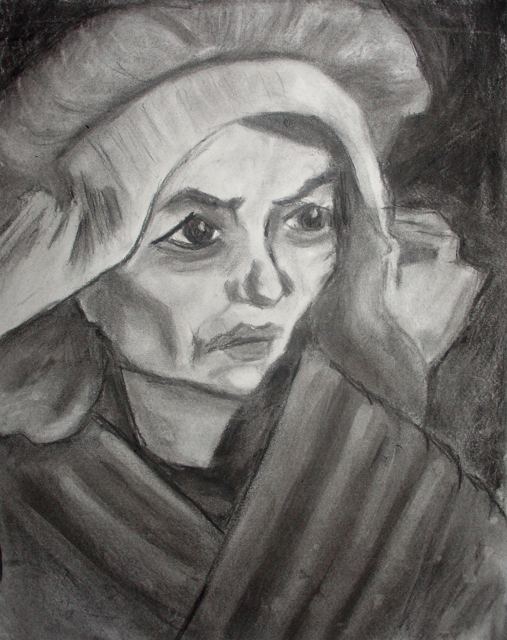 Van Gogh Woman - Charcoal - Grace Avery