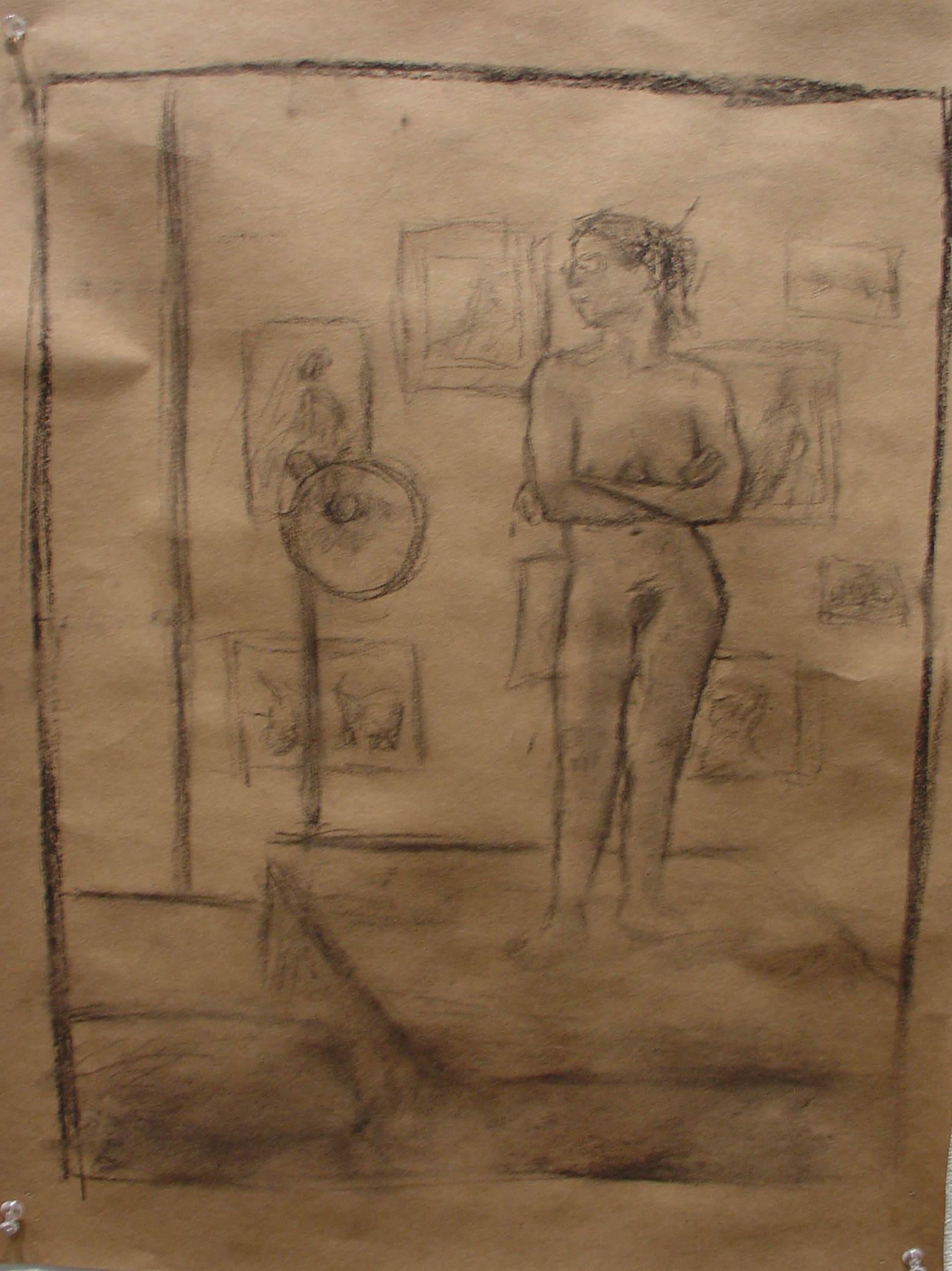 Nude Woman in Studio