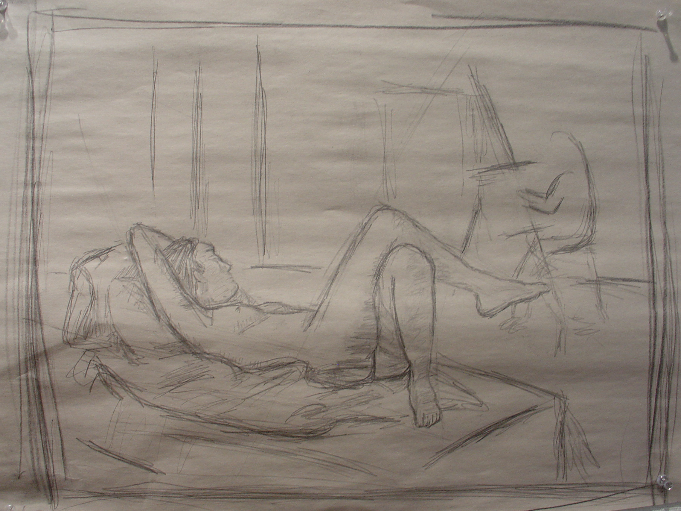 Nude Woman in Studio, Reclining
